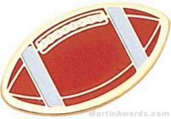 1″ Etched Soft Enamel Football Chenille Letter Pin 1