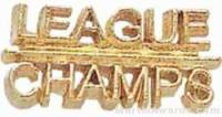 "7/8"" League Champs Chenille Letter Insert Pins"