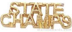 7/8″ State Champs Chenille Letter Insert Pins 1