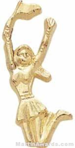"1 1/2"" Cheerleader Chenille Letter Sports Pins"