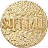 "3/8"" SMALL SOFTBALL CHENILLE PIN"