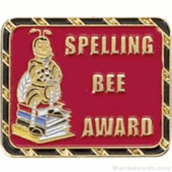 Spelling Bee Award Lapel Pin 1