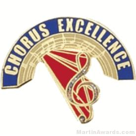 Chorus Excellence Award Lapel Pin