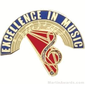 Excellence in Music Award Lapel Pin