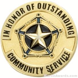 Communtiy Service Award Lapel Pin 1
