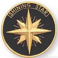 """1"""" Shining Star Lapel Pin"""