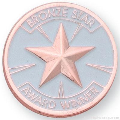 "1"" Bronze Star Award Lapel Pin"