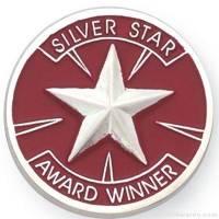 "1"" Silver Star Award Lapel Pin"