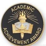 1″ Academic Achievement Award Lapel Pin 1