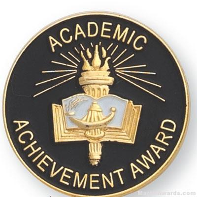 "1"" Academic Achievement Award Lapel Pin"