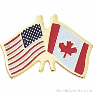 Canadian American Flag Pins