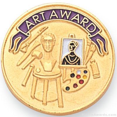 """7/8"""" Art Award Lapel Pin"""