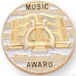 7/8″ Music Award Lapel Pin 1