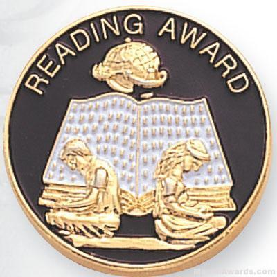 7/8″ Reading Award Lapel Pin 1