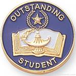 "7/8"" Outstanding Student Lapel Pin"