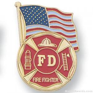 "1-1/8"" Firefighter Lapel Pin"
