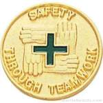 Safety Through Teamwork Enameled Lapel Pins 1