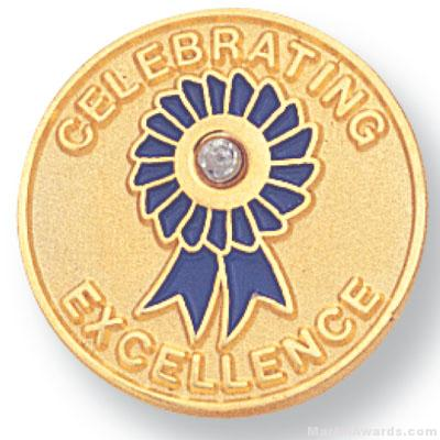 """3/4"""" Celebrating Excellence Lapel Pin"""