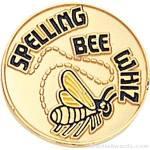 3/4″ Spelling Bee Whiz Round Enameled Lapel Pins 1