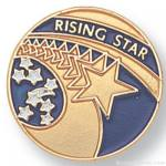 """3/4"""" Rising Star Lapel Pin"""