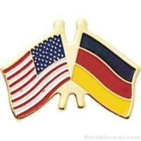 """3/4"""" German American Flag Pins"""
