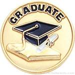 3/4″ Graduate Round Enameled Lapel Pins 1