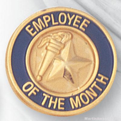 "3/4"" Employee of the Month Lapel Pin"