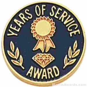3/4″ Years Of Service Enameled Lapel Pins with Quality Clutch 1