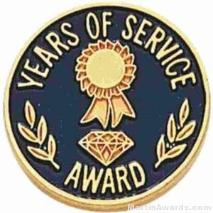 "3/4"" Years Of Service Enameled Lapel Pins with Regular Clutch"