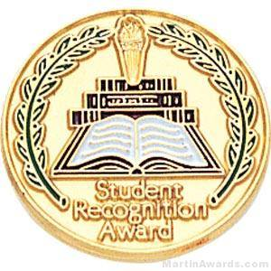 "3/4"" Student Recognition Award Enameled Round Pin"
