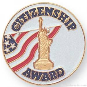 """7/8"""" Citizenship Award Lapel Pin"""