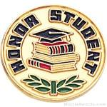 """3/4"""" Honor Student Round Enameled Lapel Pins"""