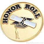 3/4″ Honor Roll Round Enameled Lapel Pins 1