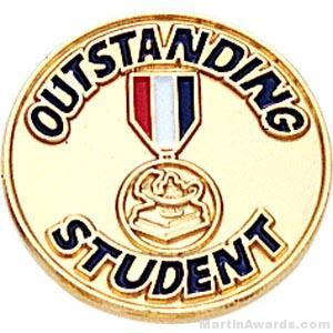 3/4″ Outstanding Student Round Enameled Lapel Pins 1