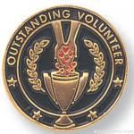 3/4″ Outstanding Volunteer Lapel Pin 1