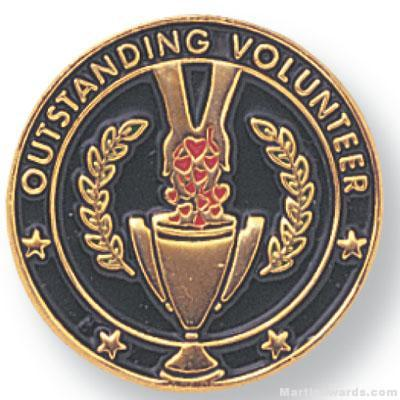 """3/4"""" Outstanding Volunteer Lapel Pin"""