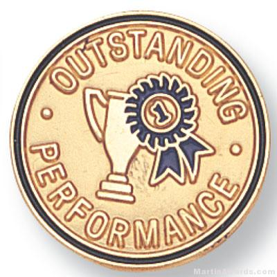 """3/4"""" Outstanding Performance Lapel Pin"""