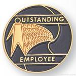 3/4″ Outstanding Employee Lapel Pin 1