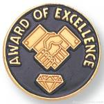 """3/4"""" Award Of Excellence Lapel Pin"""