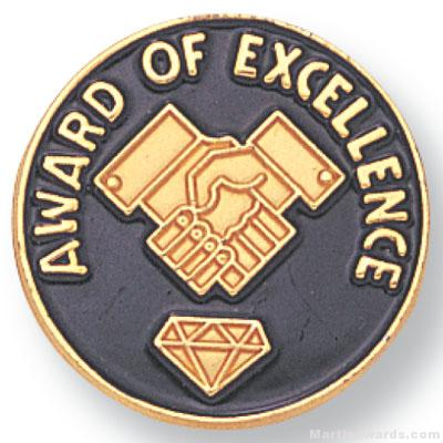 "3/4"" Award Of Excellence Lapel Pin"