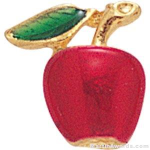 3/8″ Apple Shaped Enameled Custom Lapel Pins 1