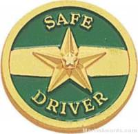 "3/4"" Safe Driver Enameled Lapel Pins"