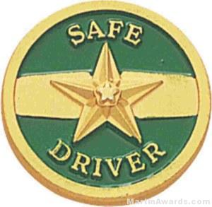 "3/4"" Safe Driver Enameled Lapel Pins"