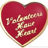 """5/8"""" Volunteers Have Heart Custom Lapel Pins"""