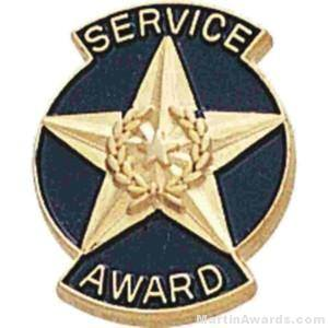 "9/16"" Service Award Enameled Lapel Pins"