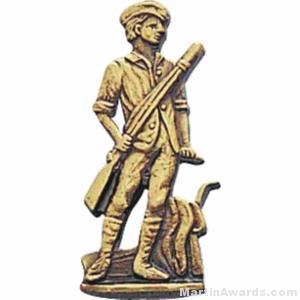 1″ Minuteman Gold Pin 1