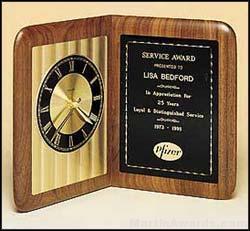 Clock Award – American Walnut Clock 1