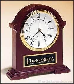 Clock Award - Napoleon Clock Hand Rubbed Mahogany Finish