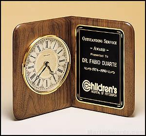 Clock Award - American Walnut Desk Clocks