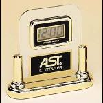 Desktop Clock Award – Acrylic Desk Clocks with Engravable Plate 1